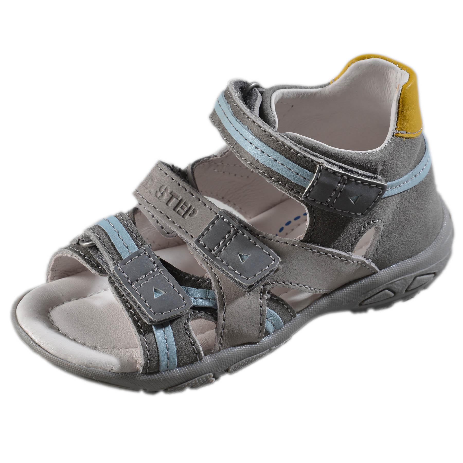 7de3573f0bec Chlapčenské kožené sandále-Grey DDstep - AC290-7040BM
