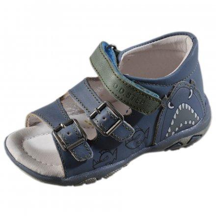 Chlapčenské kožené sandále-Bermuda  Blue