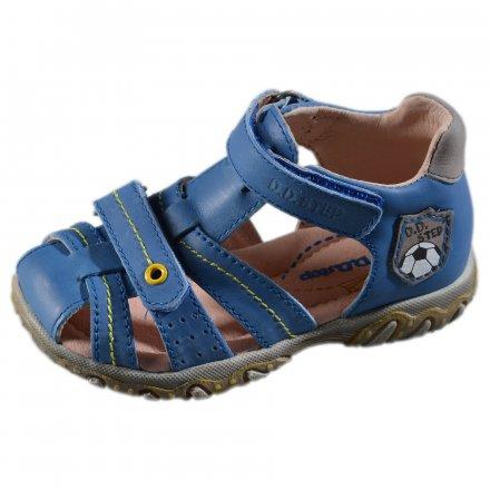 Chlapčenské kožené sandále-Calypso sky