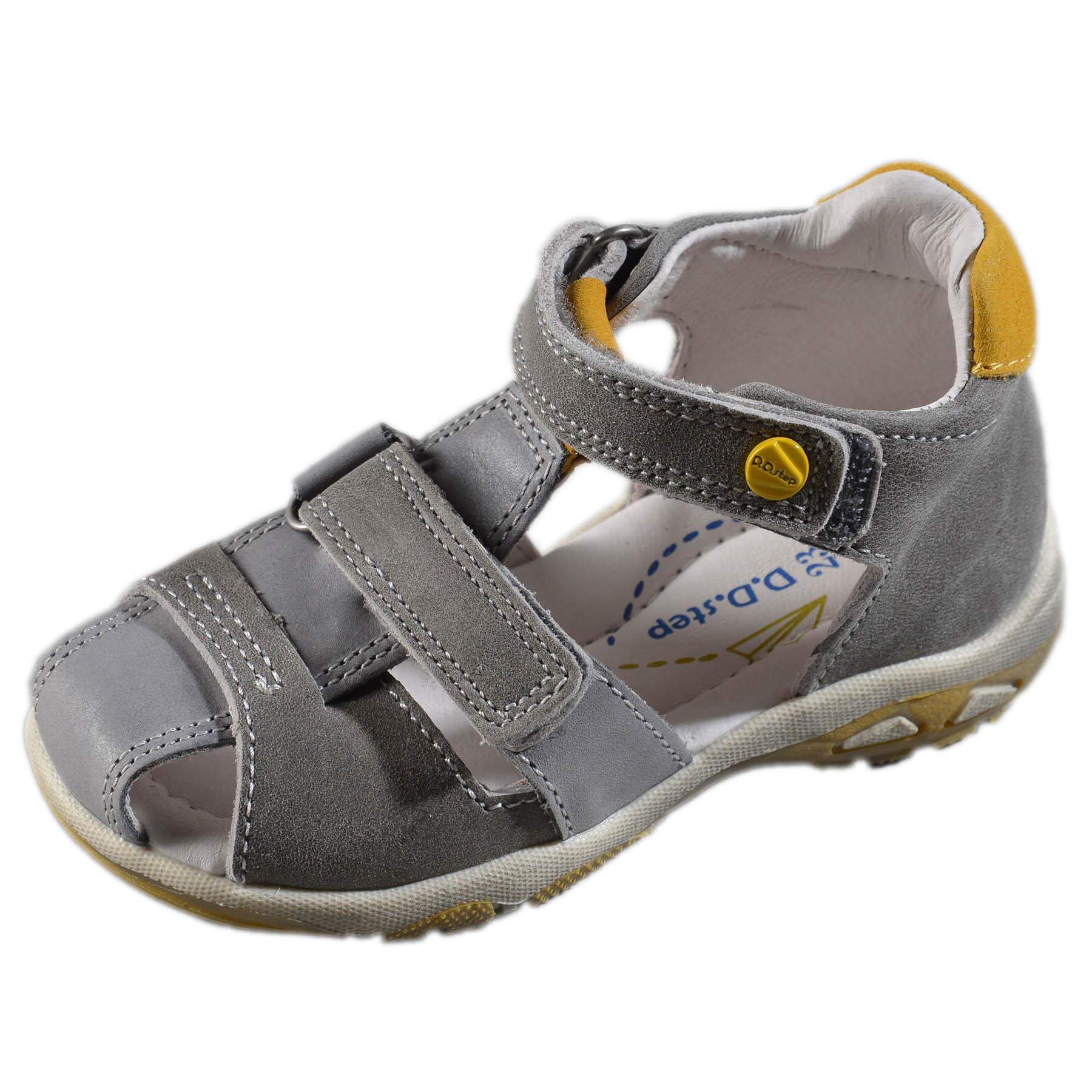 bb45df03a559 Chlapčenské kožené sandále-Grey DDstep - AC290-7026D