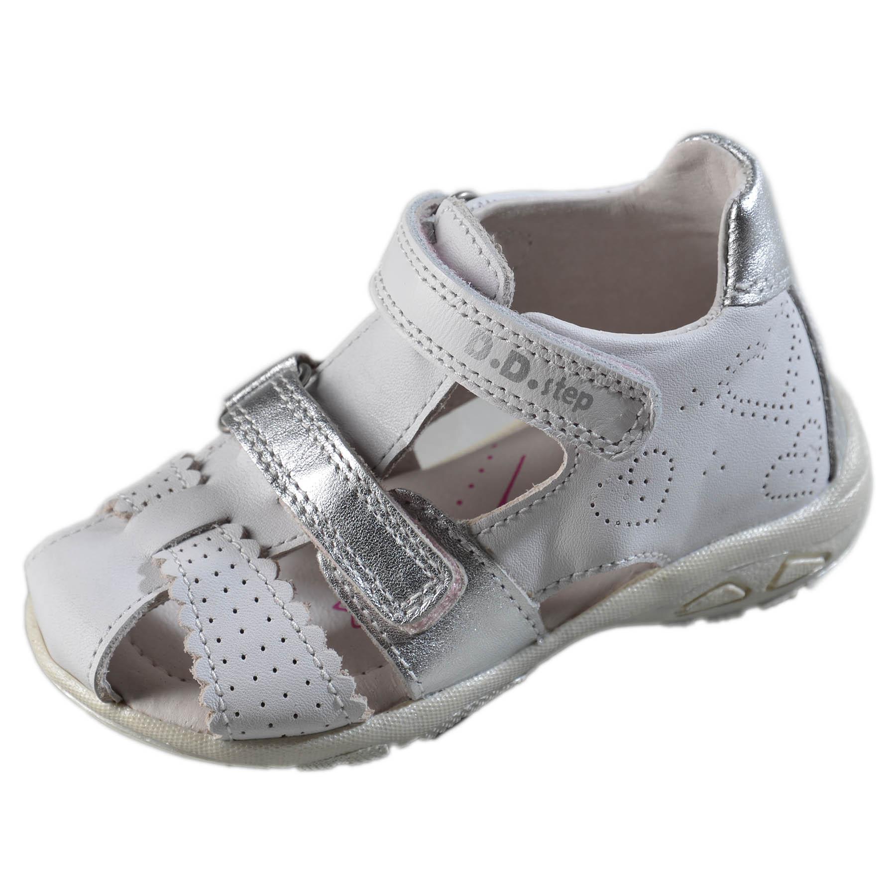 6599c09e948a Dievčenské kožené sandále-White DDstep - AC290-7035