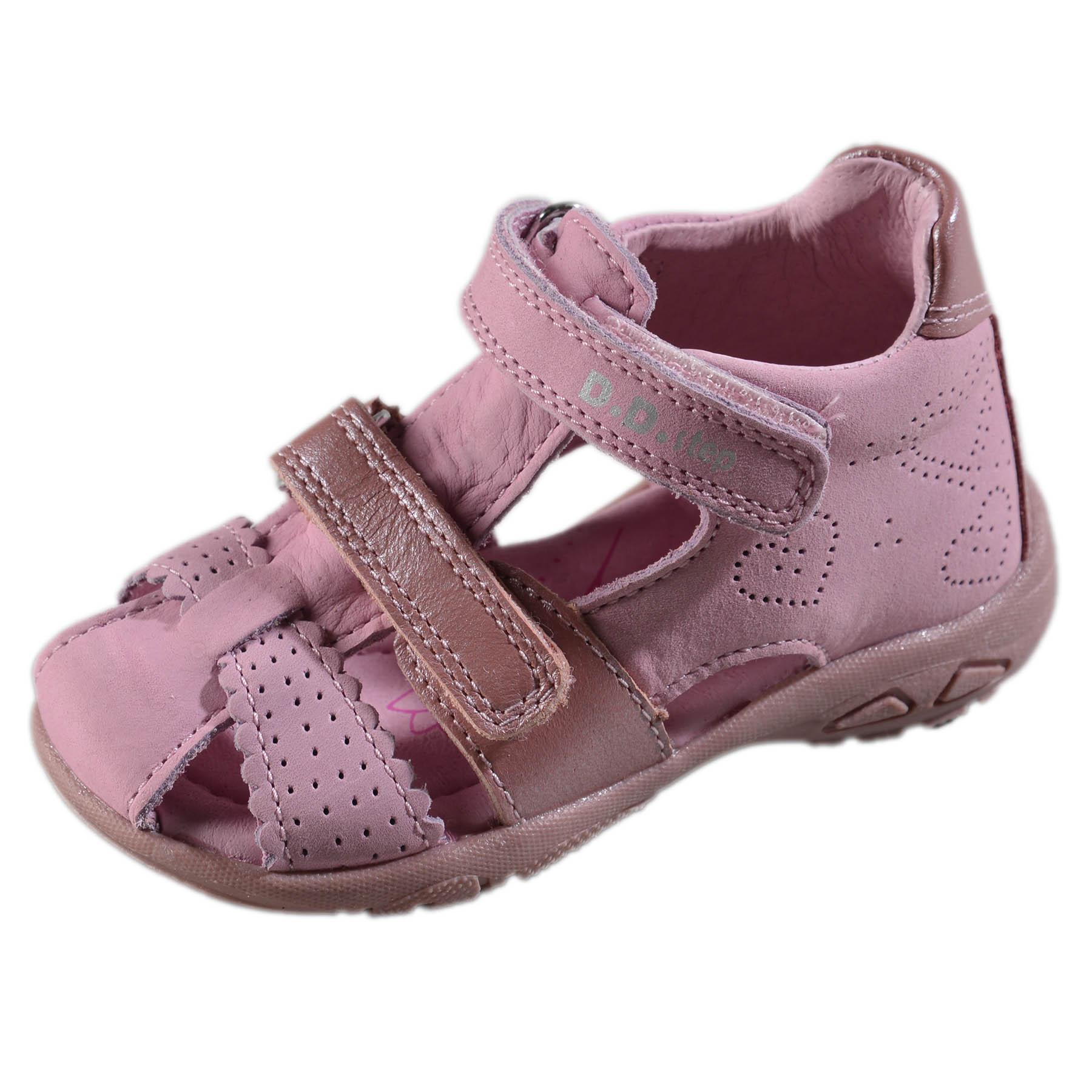fba115ed534a Dievčenské kožené sandále-Pink DDstep - AC290-7035A