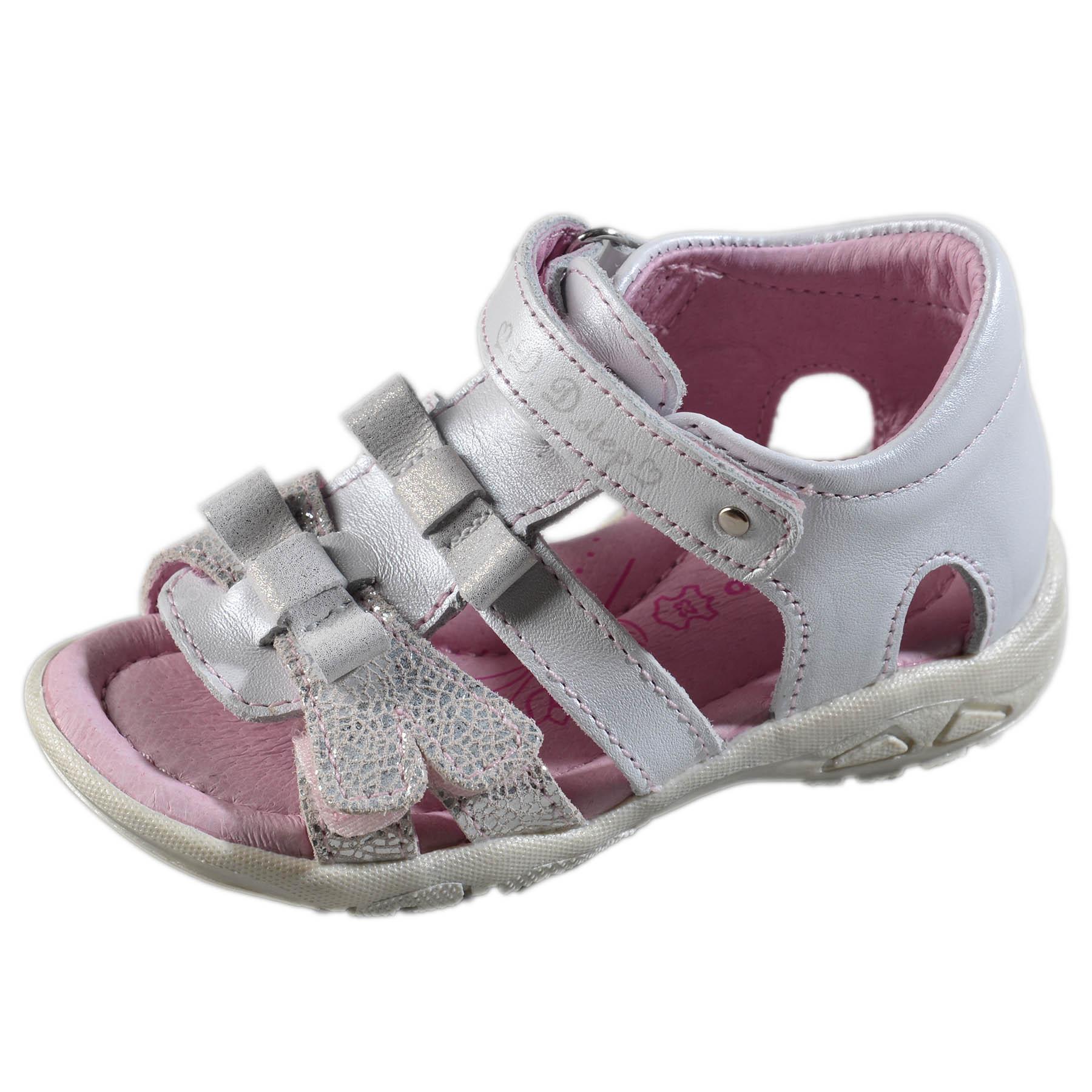 fe3c6a30597a Dievčenské kožené sandále-White DDstep - AC290-7030B