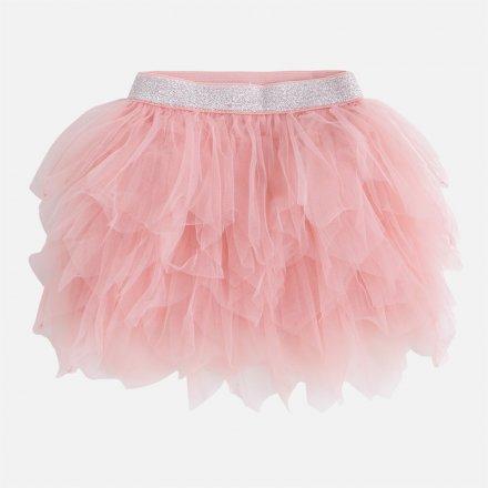 Tylová sukňa ružovej farby