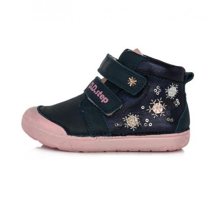 Dievčenské kožené kotníkové  topánky-Royal Blue