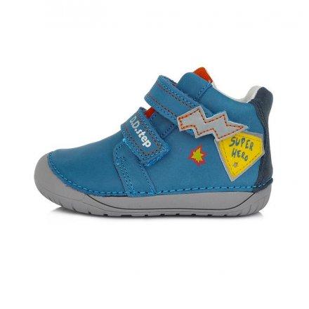 Chlapčenské kožené prechodné topánky-Bermuda Blue -BAREFOOT