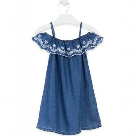 Letné šaty bez rukávov z mäkkej rifloviny