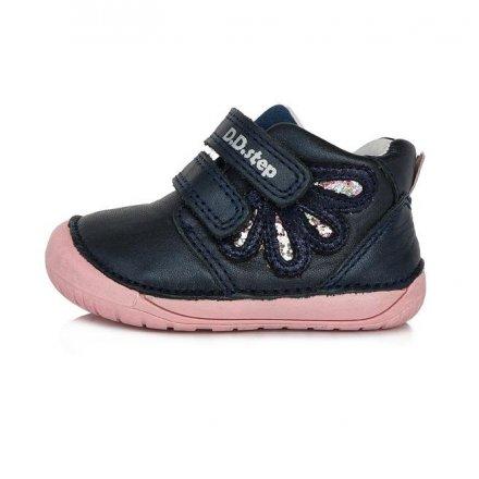 Dievčenské kožené prechodné topánky-Royal Blue-BAREFOOT