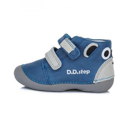 Chlapčenské kožené prechodné topánky-Sky Blue