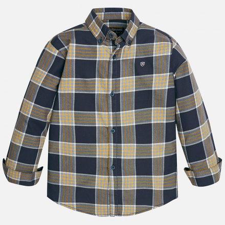 Kockovaná košeľa z bavlny a s dlhým rukávom