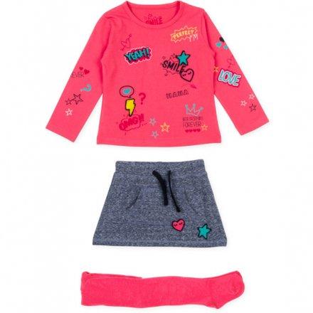 Dievčenská súprava tričko so sukňou a pančuchy