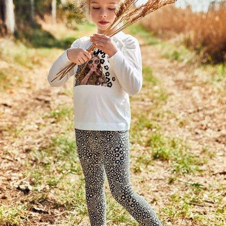 Dievčenská súprava tričko s  ozdobou a legíny