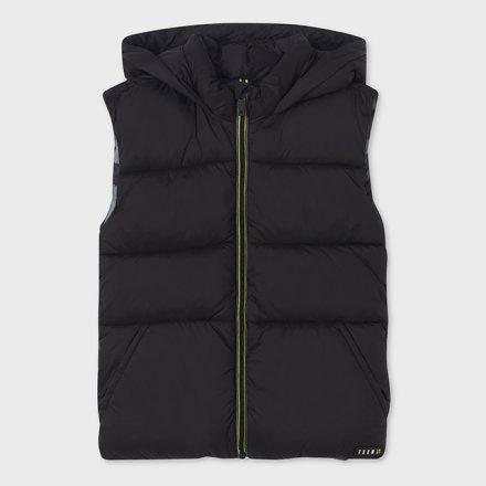 Chlapčenská prešívaná vesta s kapucňou