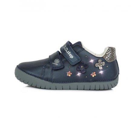 Dievčenské kožené  blikajúce prechodné topánky-Royal Blue