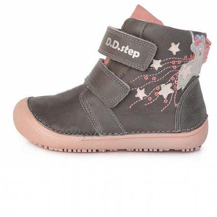 Dievčenské prechodné kotníkové topánky-Pink-BAREFOOT