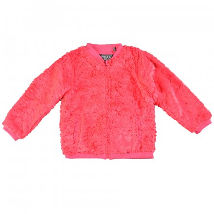 Dievčenská  bunda bez kapucňe z kožušinky