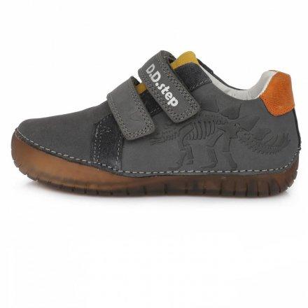 Chlapčenské kožené prechodné topánky-Dark Grey