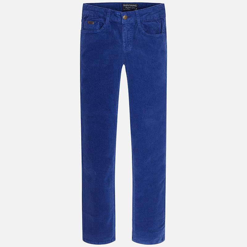 Chlapčenské menčestrové nohavice