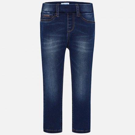 Dievčenské riflové nohavice s nastaviteľným pásom