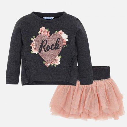 Dievčenská súprava pulóvrik s flitrami a tylová sukňa