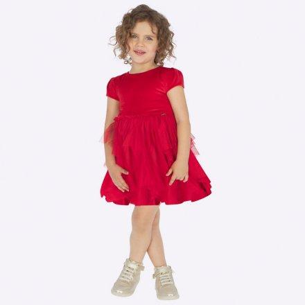 Dievčenské šaty s tylovou sukňou