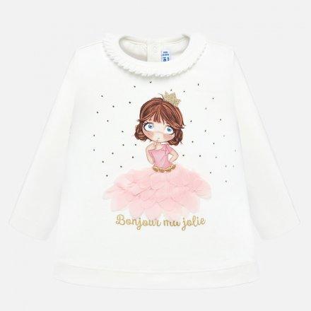 Dievčenské tričko s dlhým rukávom s aplikáciou