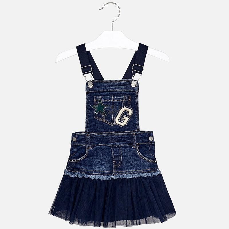 Kombinované šaty  s dlhým rukávom a s tylovou sukňou na traky