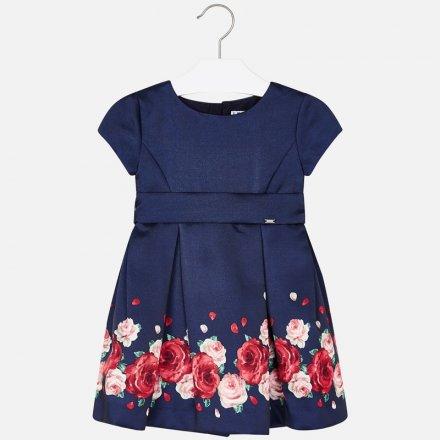 Slávnostné šaty s kvetinkami krátkym rukávom