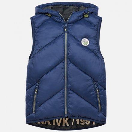 Chlapčenská vesta s kapucňou na zips