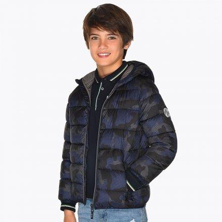Chlapčenská prešívaná bunda s kapucňou