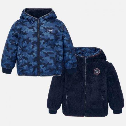 Chlapčenská obojstranná bunda s kapucňou