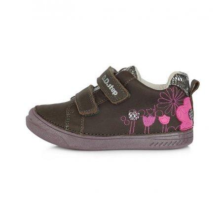 Dievčenské kožené prechodné topánky-Dark Grey