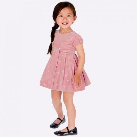 Elegantné zamatové bodkované šaty s krátkym rukávom