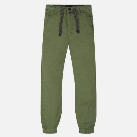 Chlapčenské bavlnené JOGGER nohavice s nastaviteľným pásom
