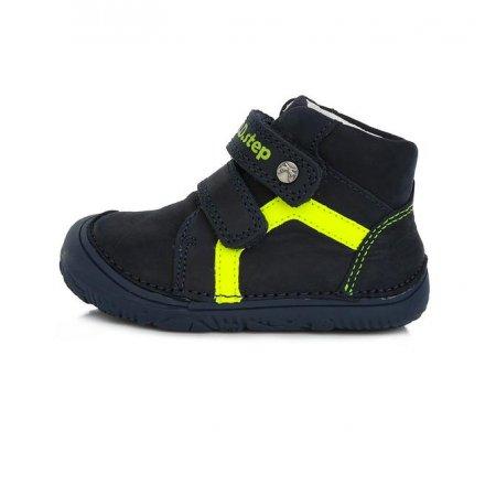 Chlapčenské kožené prechodné topánky-Royal Blue -BAREFOOT
