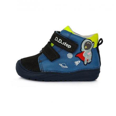 Chlpačenské kožené prechodné topánky-Bermuda Blue