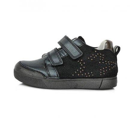 Dievčenské kožené prechodné topánky-Black