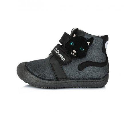 Dievčenské prechodné kotníkové topánky-Black-BAREFOOT