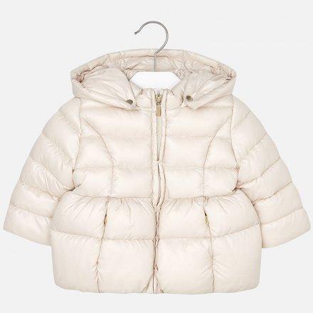 Dievčenská zimná bunda s kapucňou