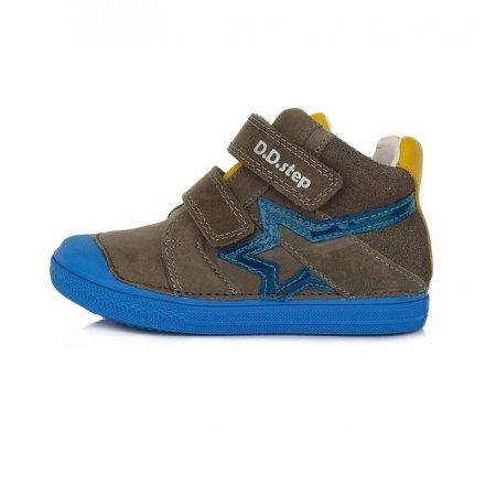 Chlapčenské kožené kotníkové prechodné topánky-Khaki