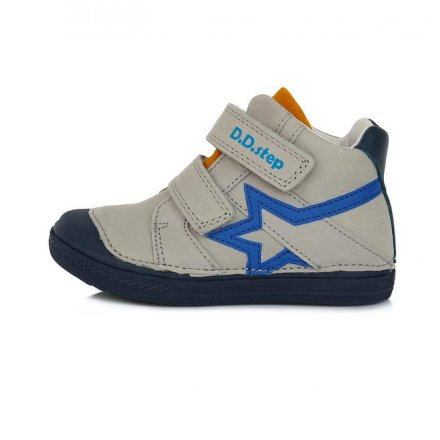 Chlapčenské kožené kotníkové prechodné topánky-Light Grey