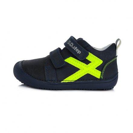 Chlapčenské kožené prechodné topánky BAREFOOT-Royal Blue