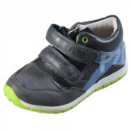 Chlapčenské kožené prechodné topánky-PONTE