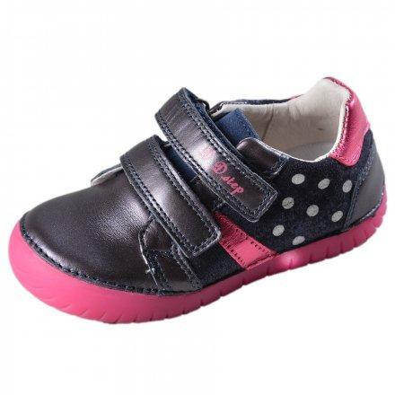 Dievčenské kožené blikajúce topánky-Royal Blue