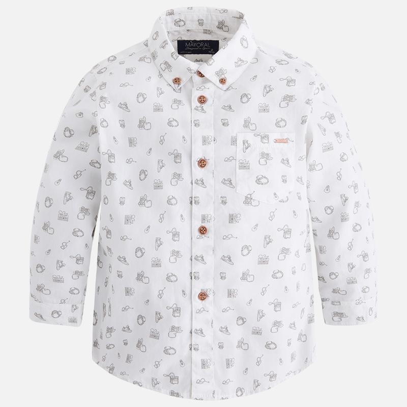 Košeľa z bavlny s dlhým rukávom a s klasickým golierom