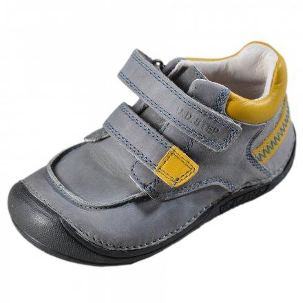Chlapčenské kožené prechodné topánky- Dark Grey