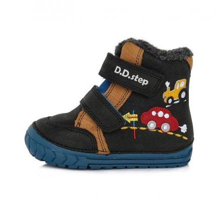 Chlapčenské zimné topánky zateplené s kožušinkou-Black