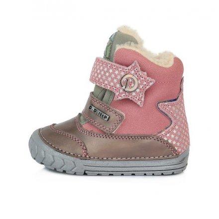Dievčenské zimné topánky zateplené s kožušinkou-Pink