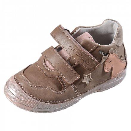 Dievčenské kožené prechodné topánky-Khaki