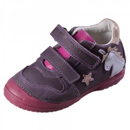 Dievčenské kožené prechodné topánky-Violet
